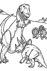 Coloriage Conflit de dinosaure