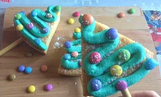 Gâteau sucette sapin - Étape 10
