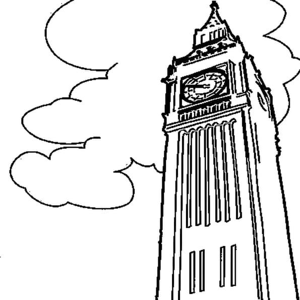 Coloriage Big Ben en Ligne Gratuit à imprimer