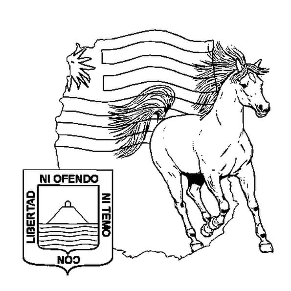 Coloriage Uruguay en Ligne Gratuit à imprimer