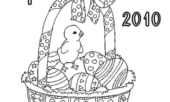 Dessin Pâques 2010 a colorier