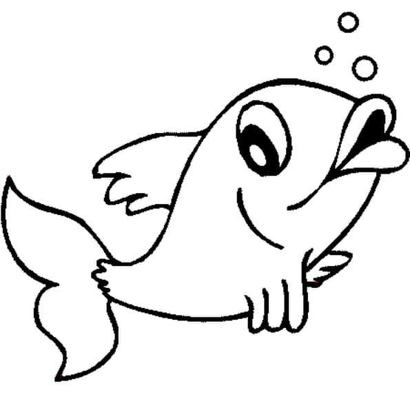 Coloriage poisson d 39 avril 2 en ligne gratuit imprimer for Aquarium poisson rouge dessin