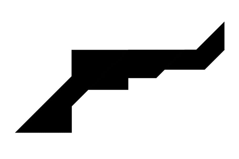 Le tangram niveau difficile, un pistolet