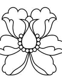 Fleur de lotus stylisée