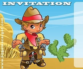 Carte invitation anniversaire western