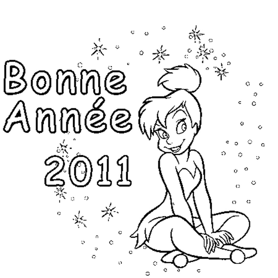 Dessin Bonne Année 2011 a colorier