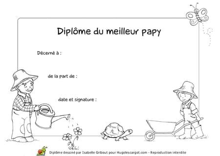 Diplome Du Meilleur Papy