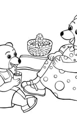 Coloriage Petit ours brun