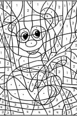 Coloriage magique panda en Ligne Gratuit à imprimer