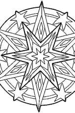 Coloriage Mandala étoile