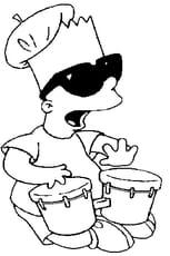 Coloriage tambourin en Ligne Gratuit à imprimer