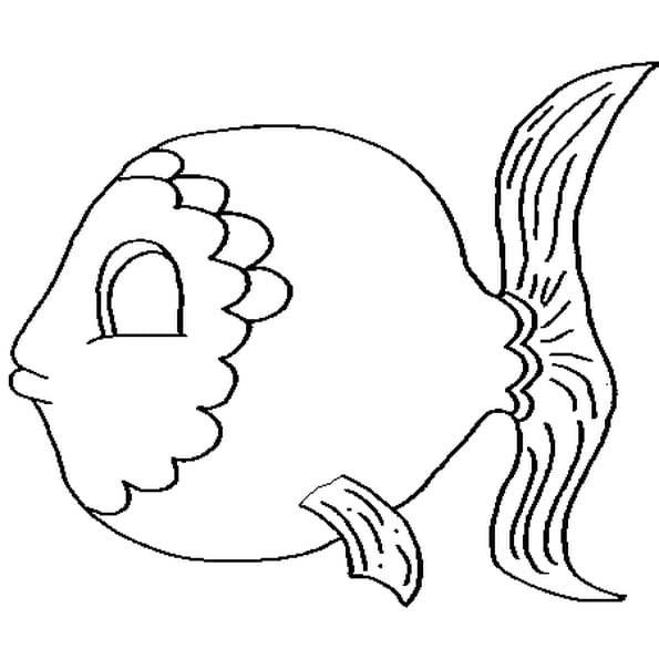 Coloriage le poisson d avril