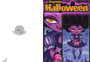 Carte de vœux Halloween Vampirela