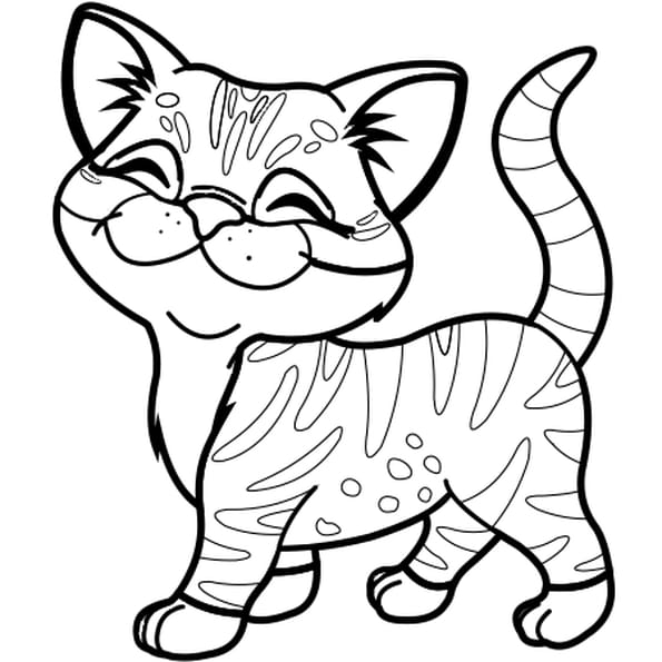 Cute Cat Colouring Pictures