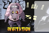 Carte invitation Halloween loup garou