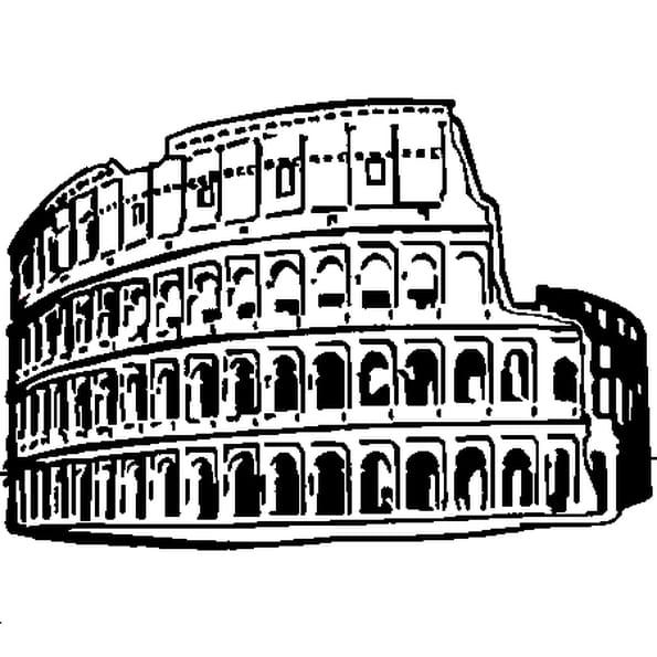 Dessin Rome antique a colorier