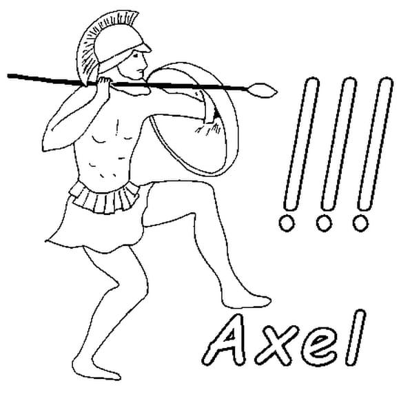 Dessin Axel a colorier