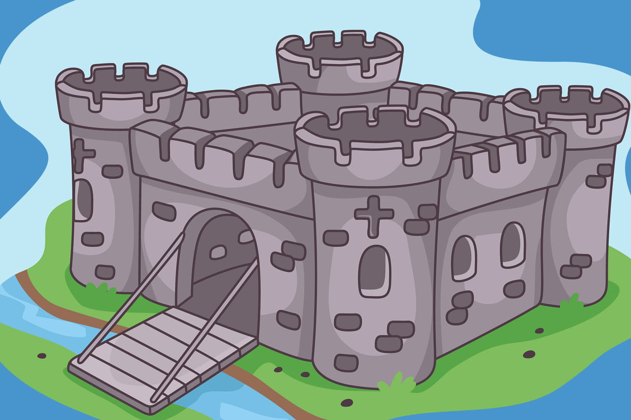Coloriage De Chateau Fort Sur Hugolescargot Com