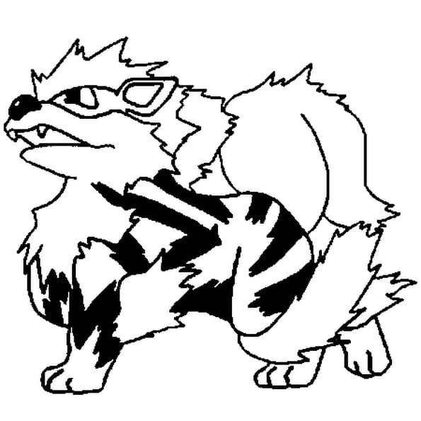 Coloriage Pokémon arcanin en Ligne Gratuit à imprimer