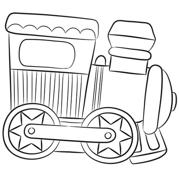 Coloriage Petit Train Jouet en Ligne Gratuit à imprimer