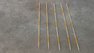 Étape 3: Fabriquez les 5baguettes Samouraï de 10points