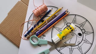 Matériel nécessaire pour fabriquer une toupie à corde