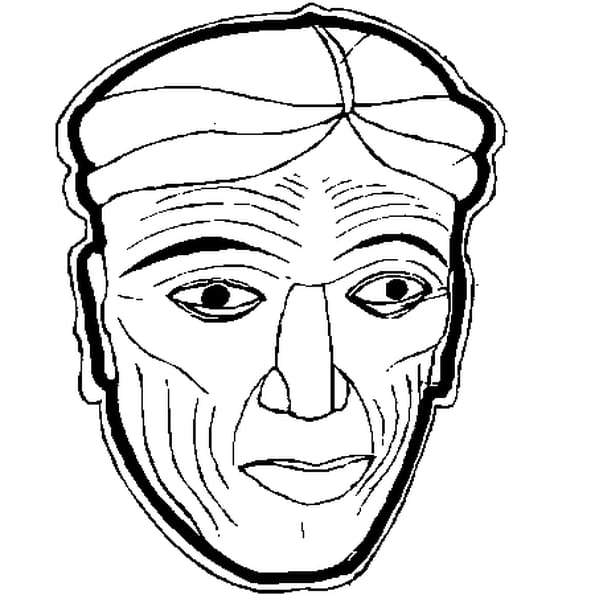Coloriage carnaval masque en Ligne Gratuit à imprimer