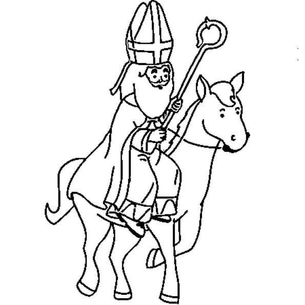 Coloriage st nicolas en ligne gratuit imprimer - Image de saint nicolas a imprimer ...