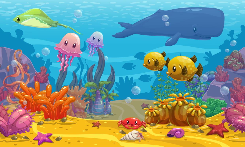 Coloriage poissons tropicaux sur Hugolescargot.com..
