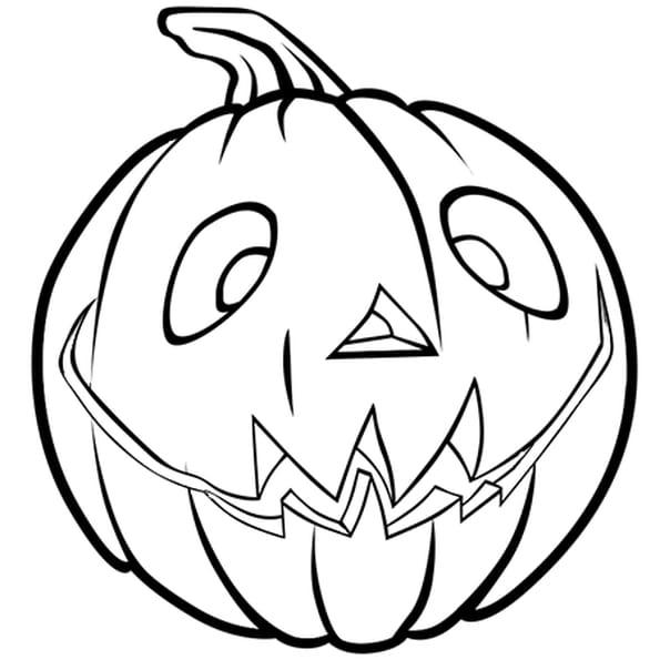 Coloriage Citrouille d'Halloween heureuse en Ligne Gratuit à imprimer