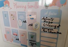 Fabriquer un planning pour la famille