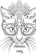 Coloriage Chat princesse en Ligne Gratuit à imprimer