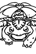 Coloriage Pokémon Florizarre en Ligne Gratuit à imprimer