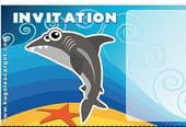 Carte invitation anniversaire requin