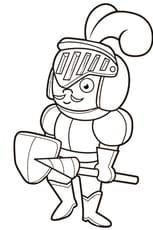 Le fier chevalier en armure