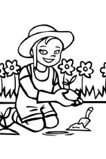 Coloriage Jardinier en Ligne Gratuit à imprimer