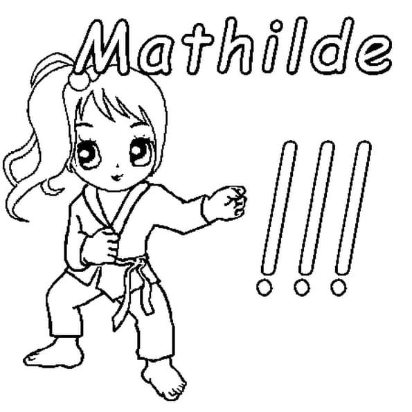 Dessin Mathilde a colorier