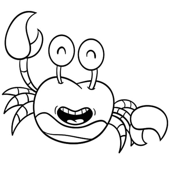 Coloriage Crabe MDR en Ligne Gratuit à imprimer