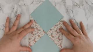 Étape 2: Formez l'enveloppe sur les côtés