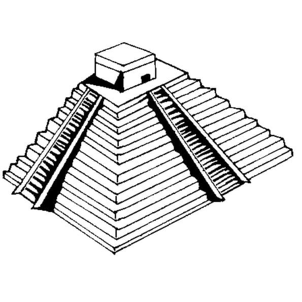 Dessin Pyramide a colorier