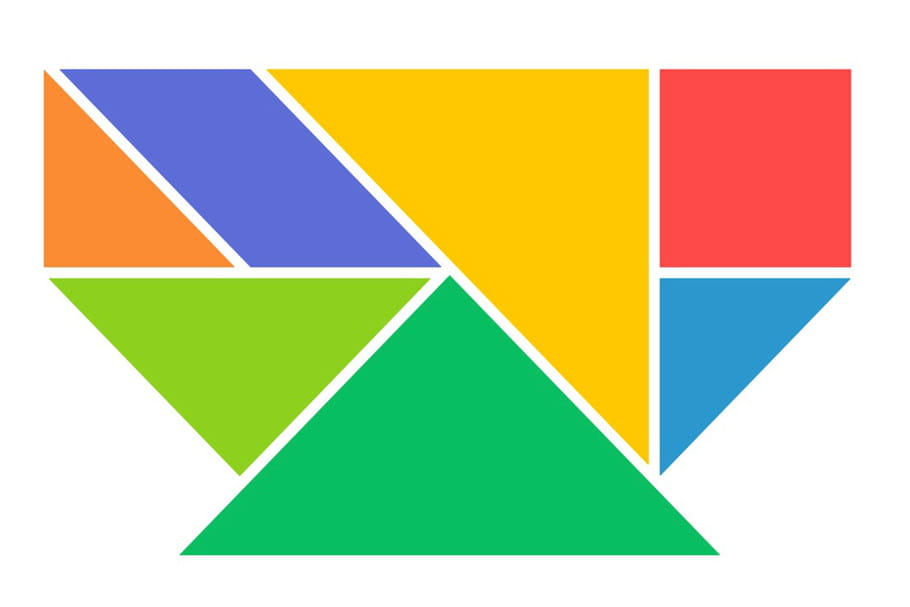 Le tangram niveau facile, un bol
