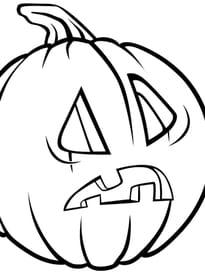 Citrouille d'Halloween étonnée