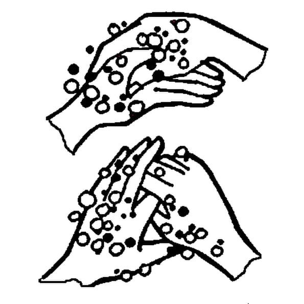 Coloriage Petites Mains en Ligne Gratuit à imprimer