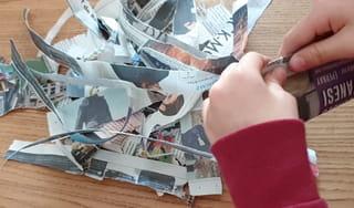 Étape 4: Découpez des bandes de papier journal