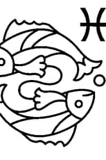 Coloriage Signe du Poisson en Ligne Gratuit à imprimer