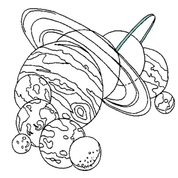 Dessin Système Solaire a colorier