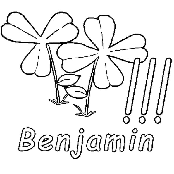 Dessin Benjamin a colorier