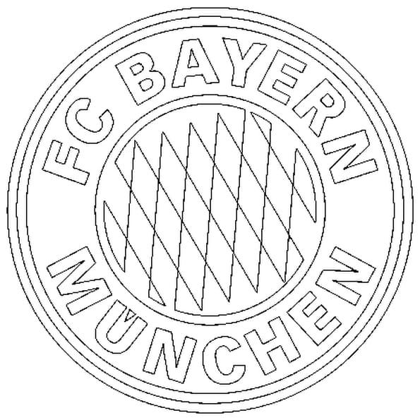 Coloriage Écusson Bayern Munich