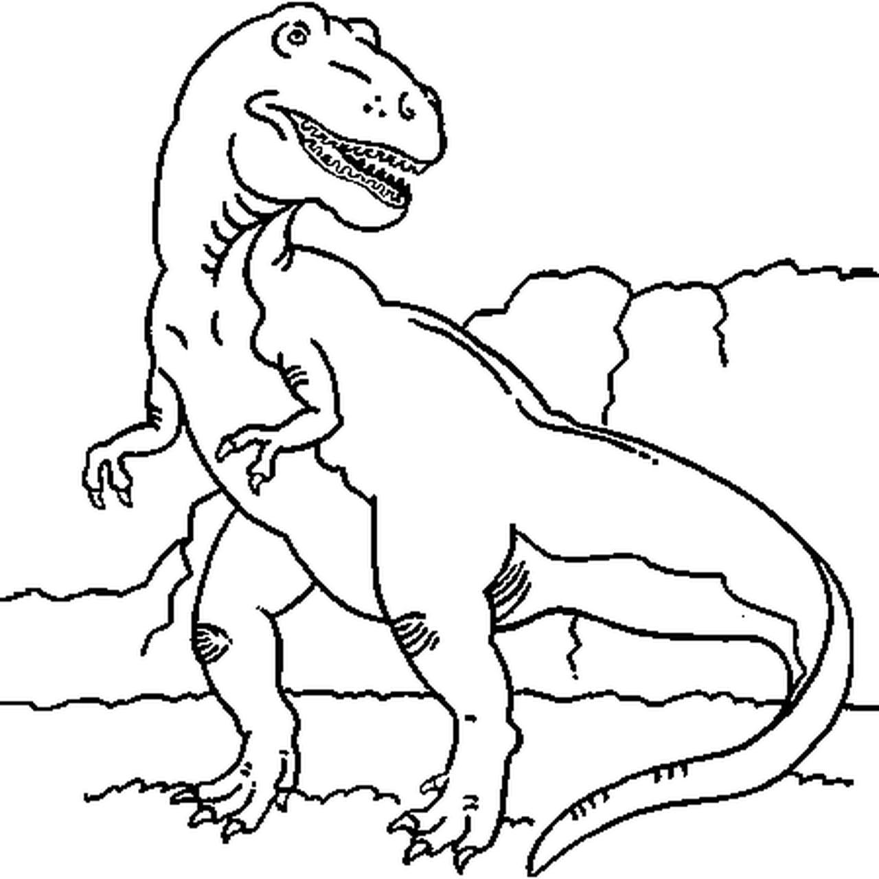Coloriage Dinosaure Tyrex A Imprimer
