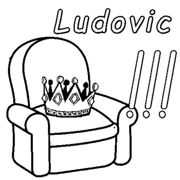 Dessin Ludovic a colorier